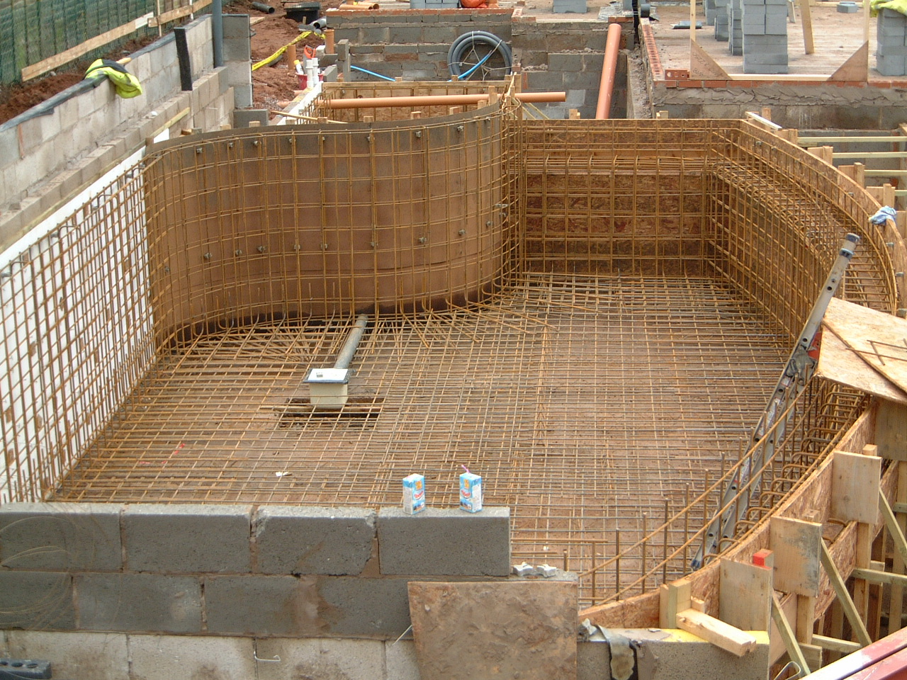 Swimming Pool Shell Construction - Rebar Steels