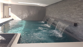 Indoor Pool with Waterfalls