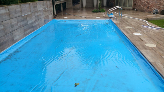 Automatic Pool Safety Cover (prior to our cleaning on Pool Opening 2017)