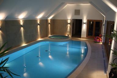 Indoor Overflow Pool & Luxury Spa
