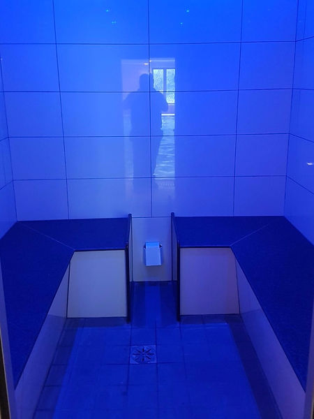 Commercial Steam Room installed with ease of cleaning/maintenance as their highest priority
