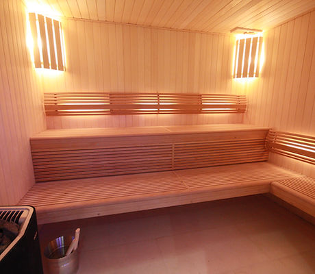 Sauna with Soft Sauna Heater