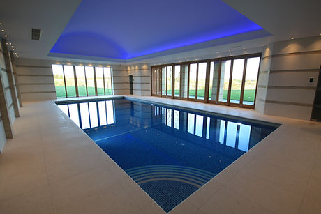 Indoor Swimming Pool with Automatic Hidden Pool Cover
