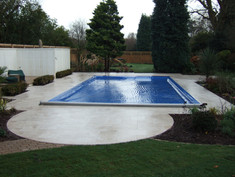 Outdoor Pool with Safety Cover
