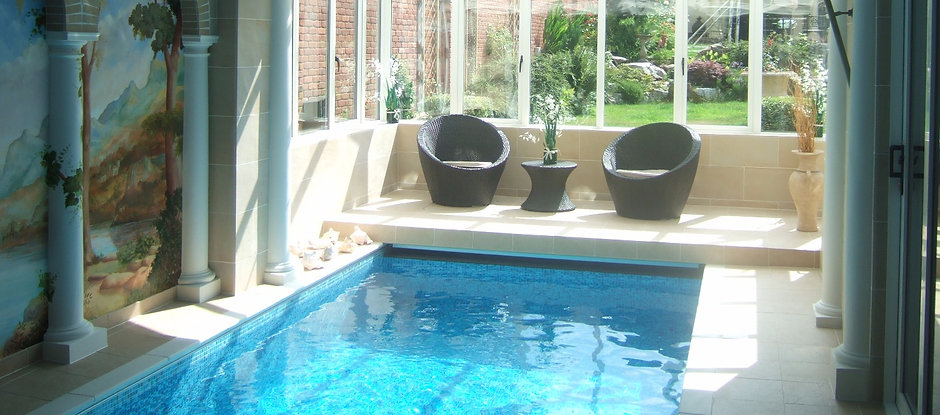 Bespoke Swimspa installed in old garage space