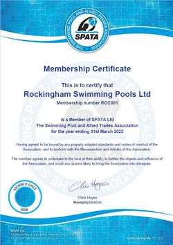 SPATA Certificate 2021-2022