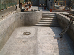 Swimming Pool Shell Concrete Casted