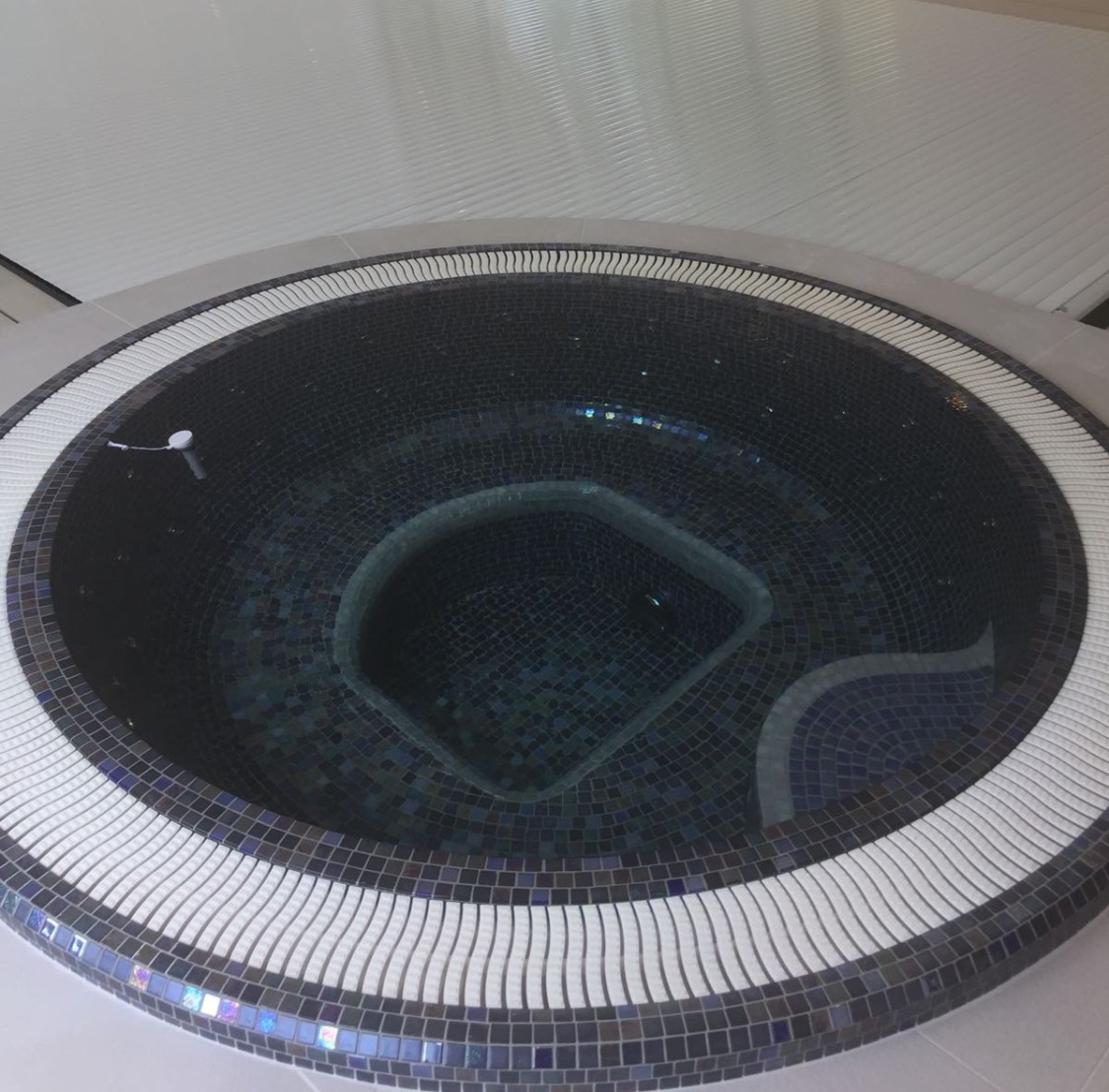Deck Level Spa with Metallic Mosaics