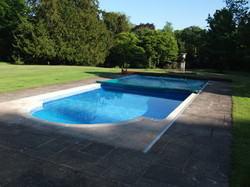 Outdoor Pool with Automatic Safety Cover