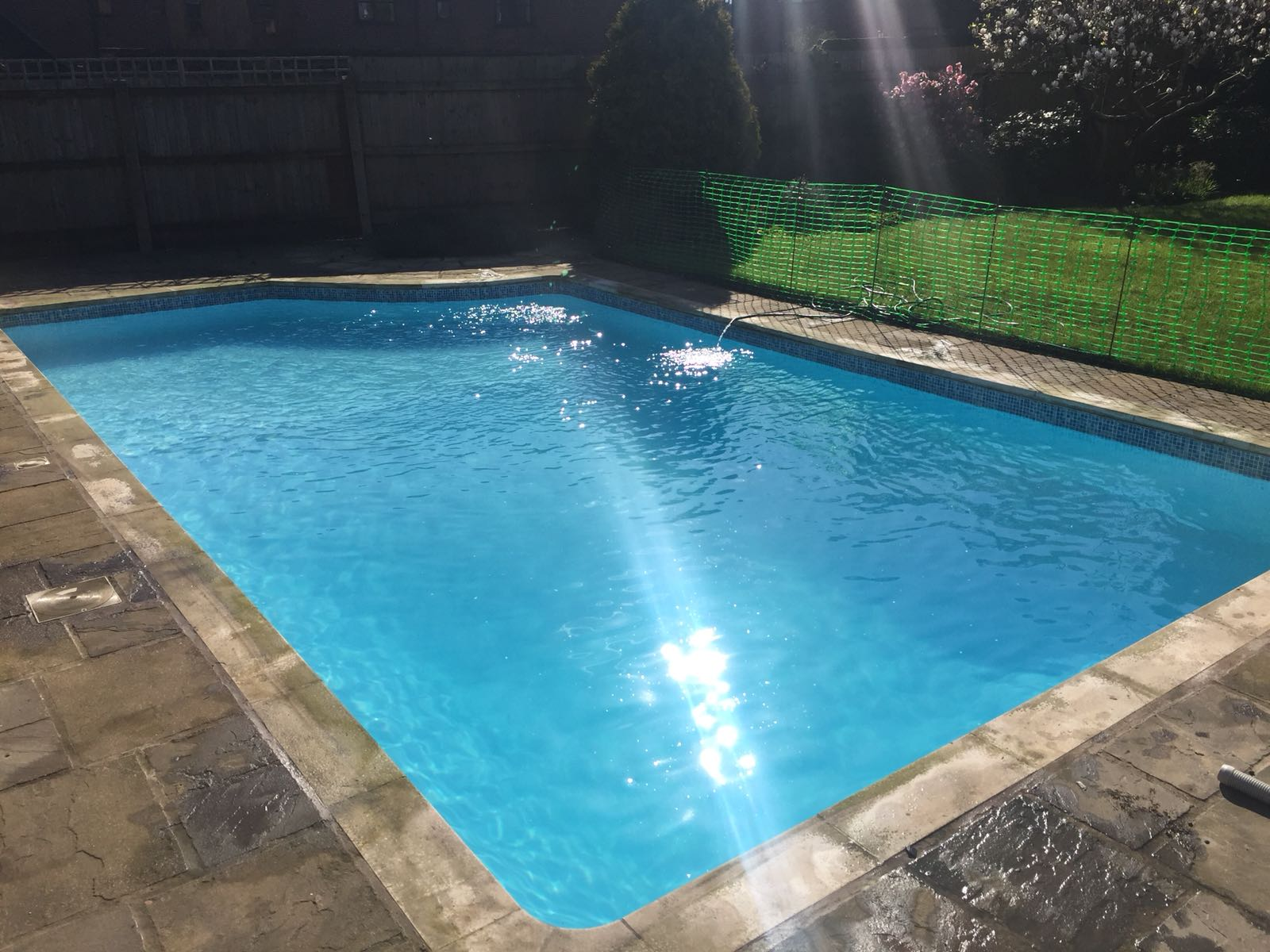 Pool Water is Sparkling after Open