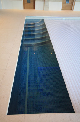 Indoor Pool with Automatic Venetian Pool Cover