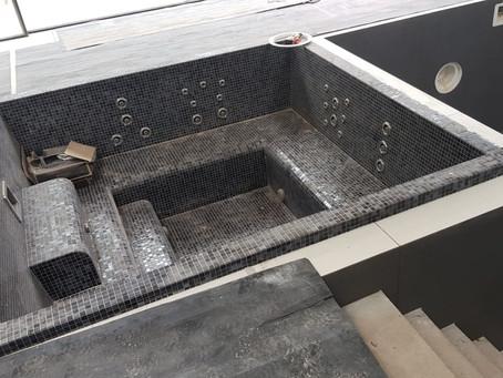 Installing an Inground Mosaic Spa