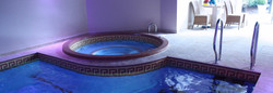 Domestic Luxury Spa with mosaic tiling