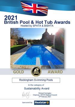 2021 Gold Sustainability Award