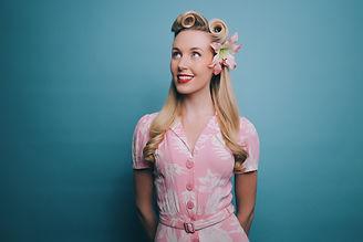 Miss Beth Belle - pink dress - vintage vocalist