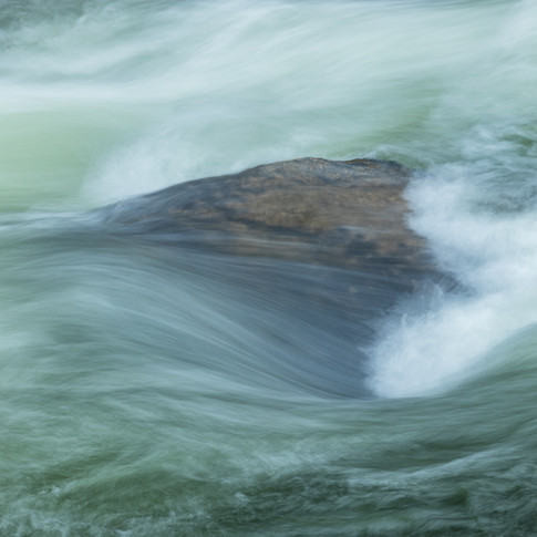 A Rock in the Presumscot River.
