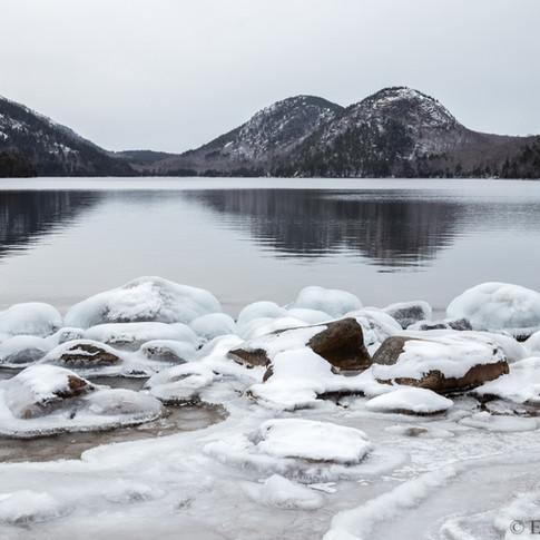Jordan Pond with Ice