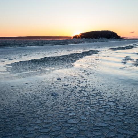 Bar Harbor Pancake Ice Sunrise.