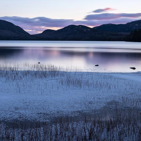 Eagle Lake Winter Sunset.