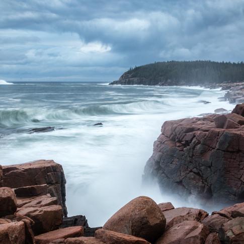 Acadia Waves from Dorian 1.