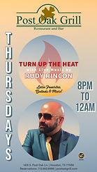 THURSDAYS LIVE MUSIC RUDY RINCON 04 29 2