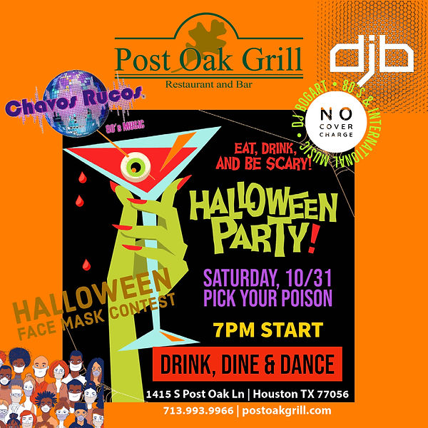 Chavos Rucos Halloween at Post Oak Grill