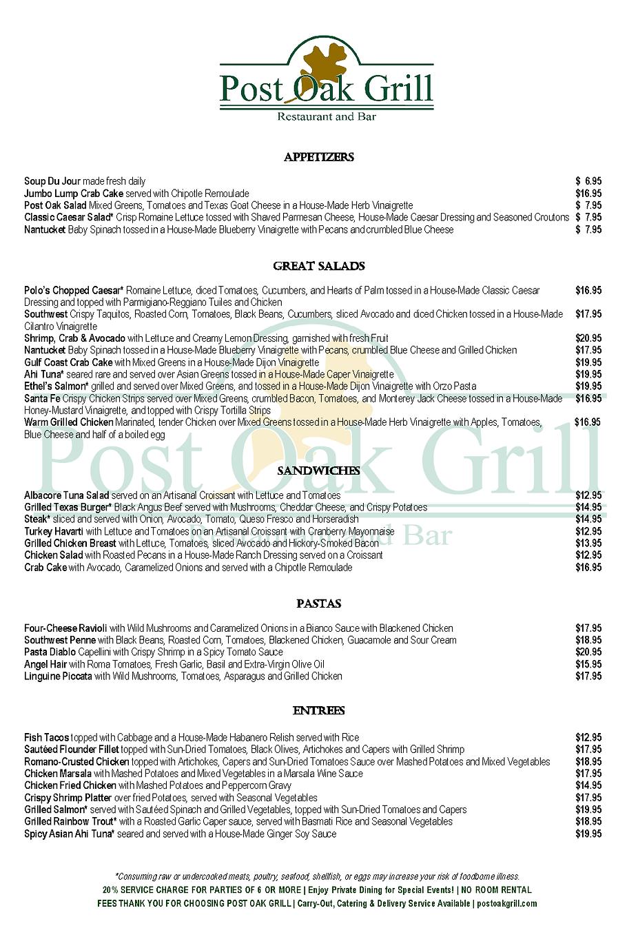 FINAL COPY Post Oak Grill DOWNTOWN September 2021 Lunch Menu 11 x 16.png