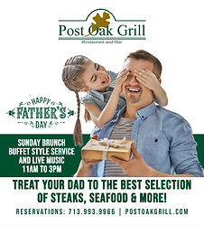 Post Oak Grill Father's Day BANNER - FIN