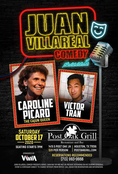 Comedy Night at Post Oak Grill 10 17 20.
