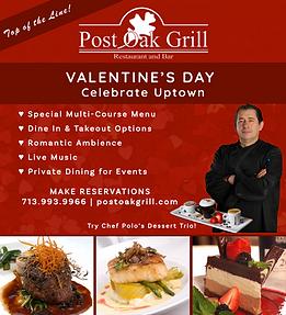 Post Oak Grill Valentine's Day Promo (re