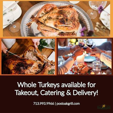 Post Oak Grill Turkey Takeout