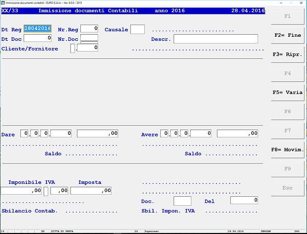 Prima nota - Software Contabilita' - Scandicci - Firenze - Toscana