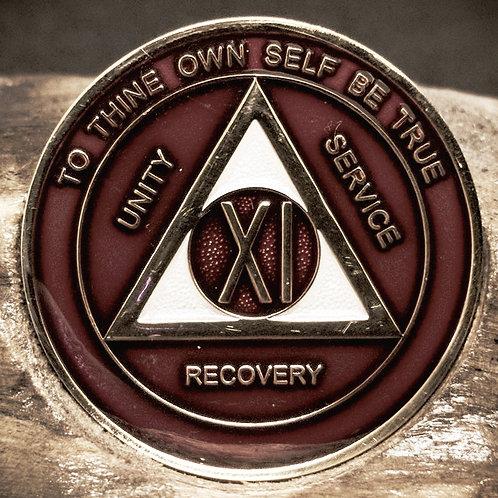 Red Sobriety Medallion