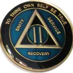 Blue Sobriety Medallion
