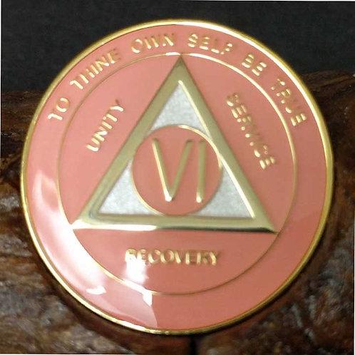Pink Sobriety Medallion