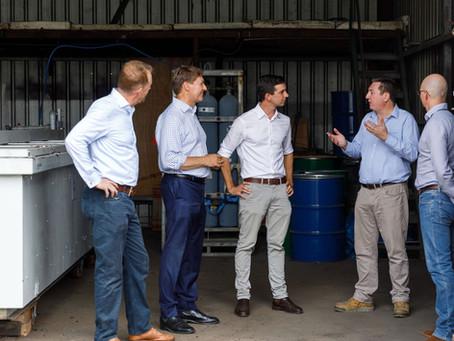 Hon Trevor Evans MP and Hon Ross Vasta MP visit Pilot Plant
