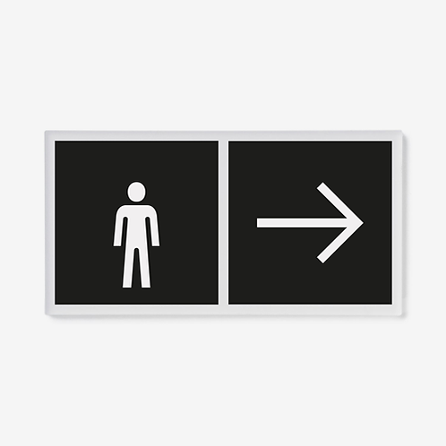 Male WC direction signs