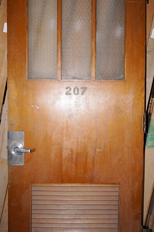 Office Door With 3 Glass Panels And Louvers
