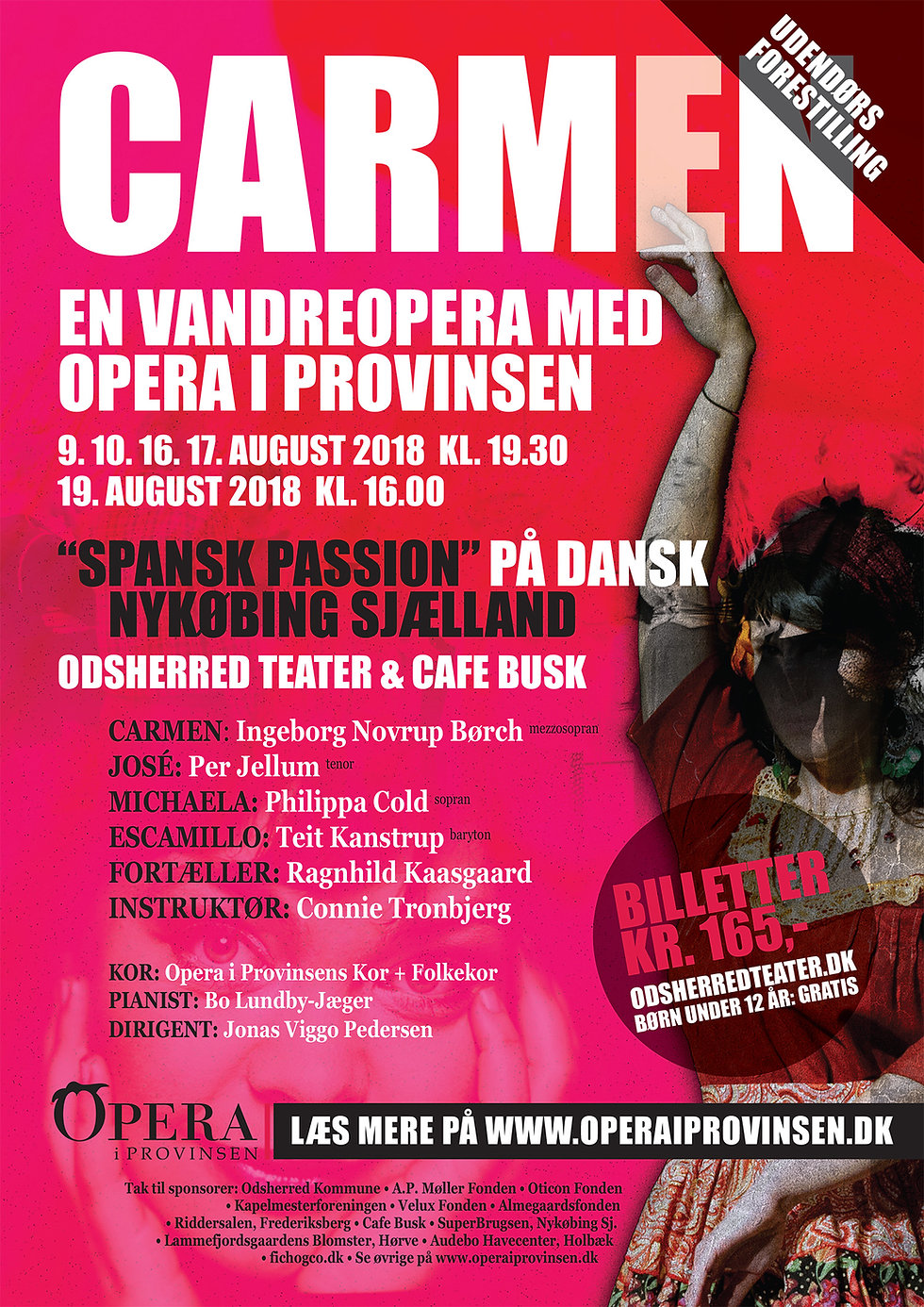 Opera i provinsen Carmen vandreopera plakat