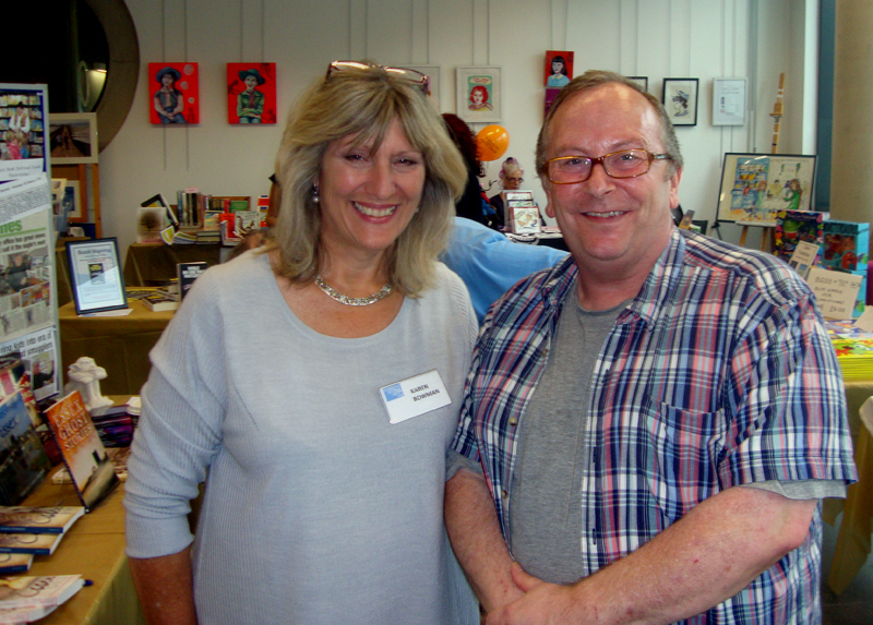 With Author Karen Bowman at the Book and Art Fair, Southend in 2014