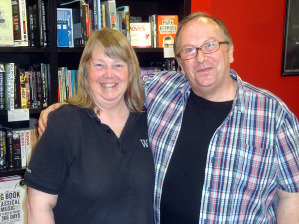 With Waterstones (Southend) Manager Carole Wells