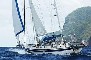Underway, sailing into Bequia.JPG