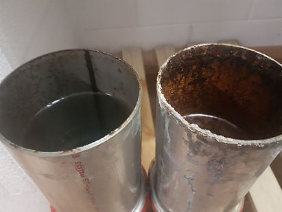 Test met drinkwater in sendsimir verzinkte buis
