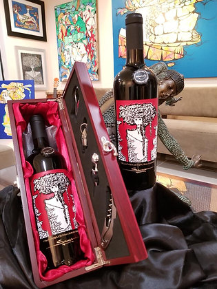 Limited edition Cristmas wine bottle.