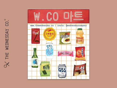 W.Co 마트 - Korean Convenience Store Stickers