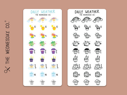 DAILY WEATHER STICKERS