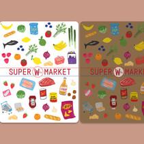 Supermarket Stickers