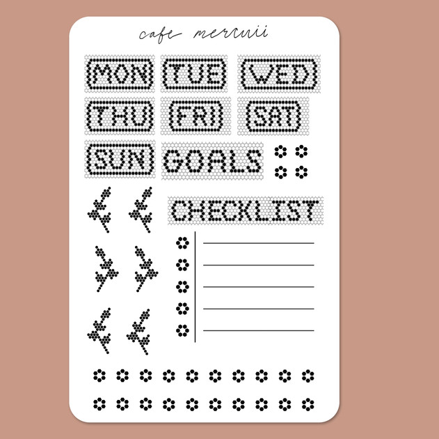 CafeMercuii- Weekly Planner