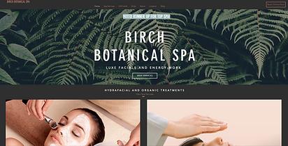 BIrch Botanical Spa M Reed Studio Web Design