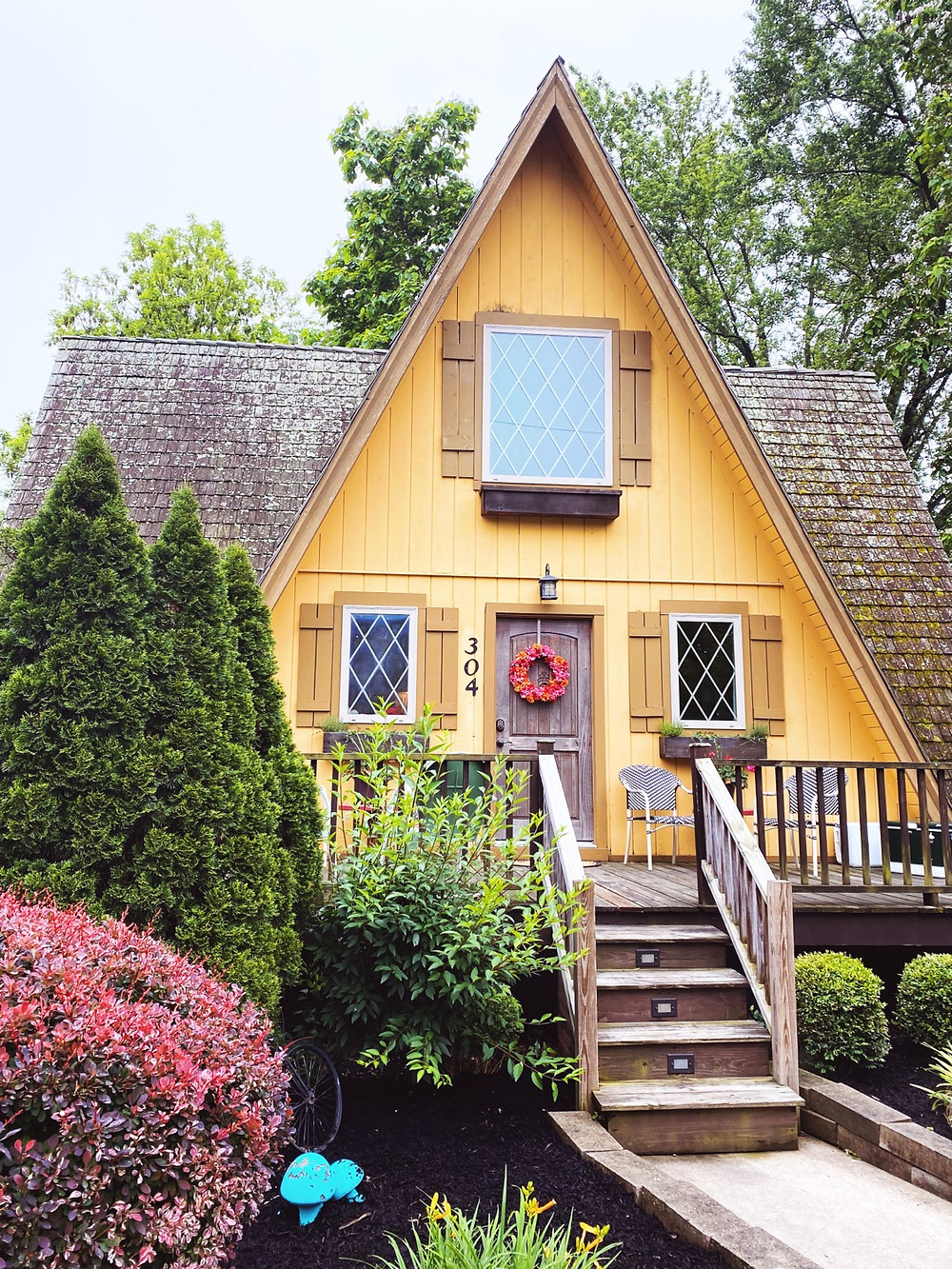 Airbnb A-Frame Cottage Yellow Bentonville AR M.Reed Studio M x Reed Studio Branding and Website Design St. Charles MO Meghan Reed